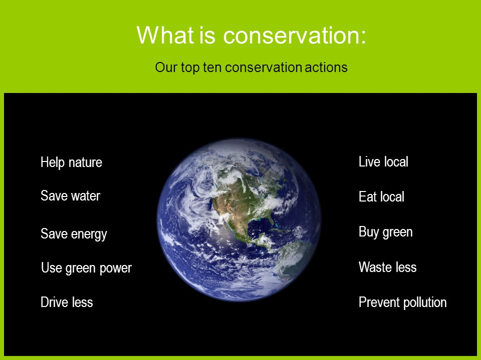 conservation actions
